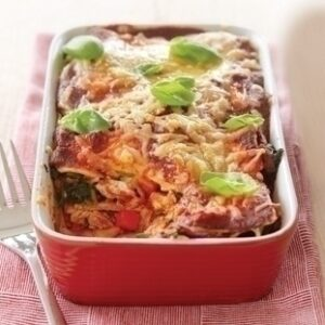 Chicken and vegetable lasagne