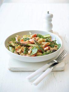 Salmon and asparagus pasta