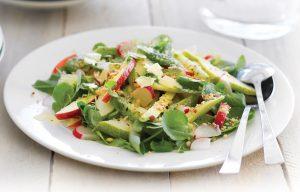 Apple, avocado and watercress salad