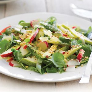Apple, avocado and watercress salad