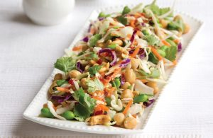 Asian slaw with chickpeas and edamame beans