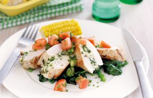 Asparagus, ricotta and basil-stuffed chicken