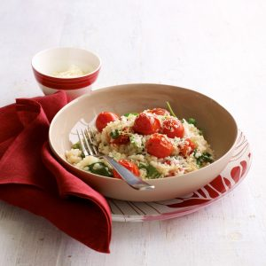 Baby spinach and roast tomato risotto
