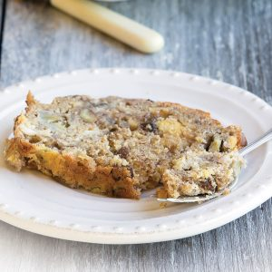 Banana, chocolate and raisin bread