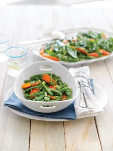 Beans and peas in ginger dressing
