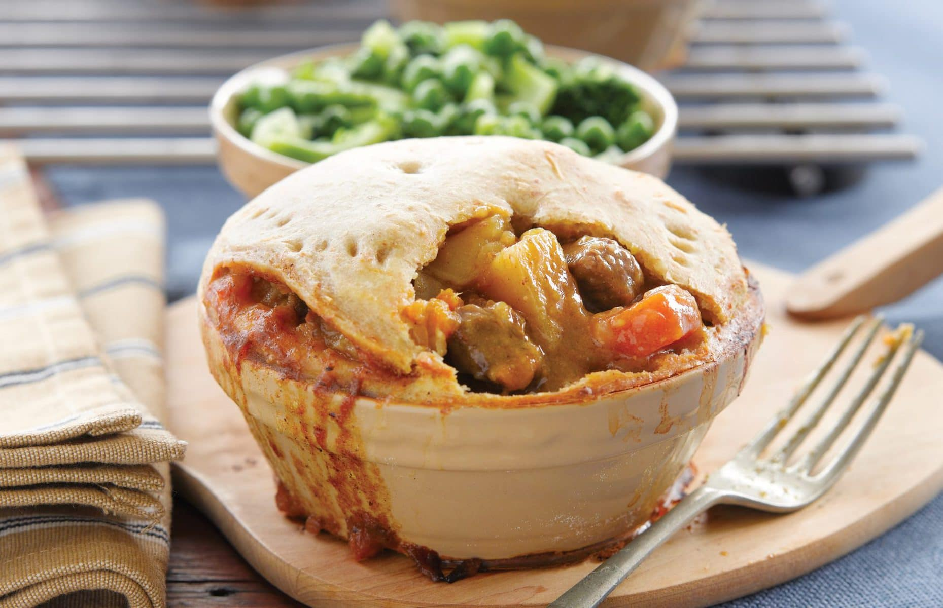 Beef and vegetable pies