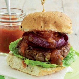 Beef 'n' bean burger