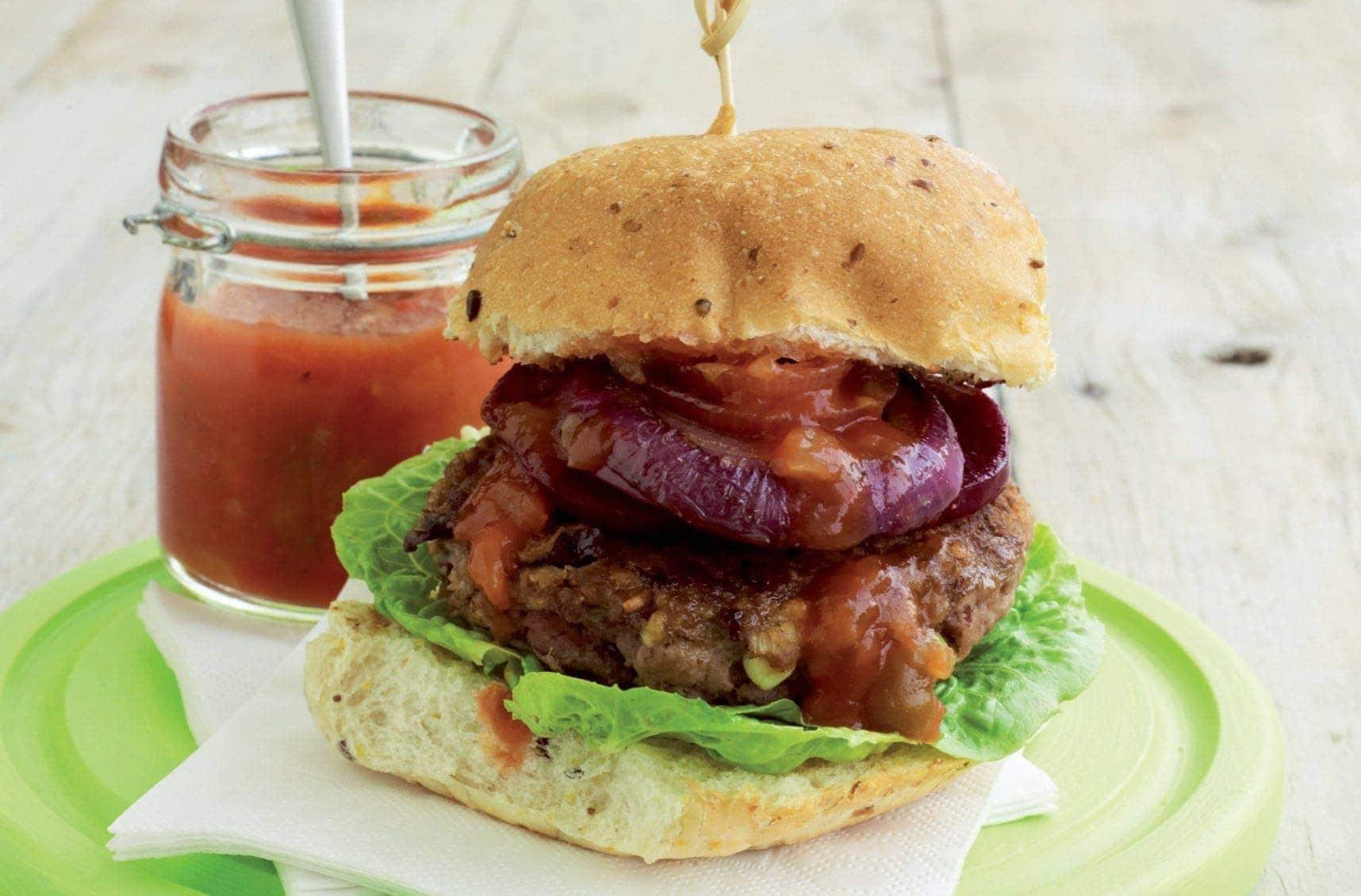 Beef N Bean Burger Healthy Food Guide