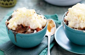 Beef pot pies with celeriac mash