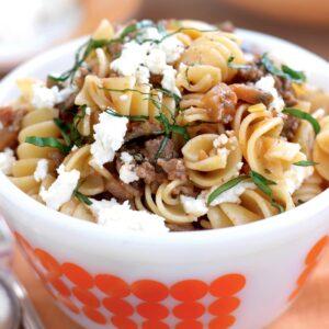 Beef ratatouille pasta
