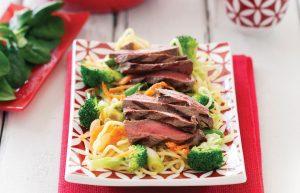 Beef tataki salad