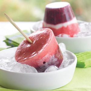 Blackcurrant berry ices