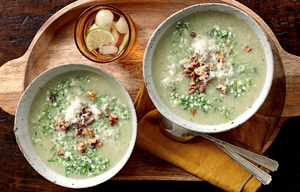 Broccolini-cauliflower soup