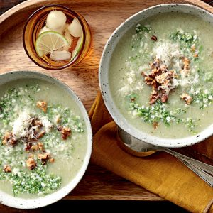 Broccolini-cauliflower soup