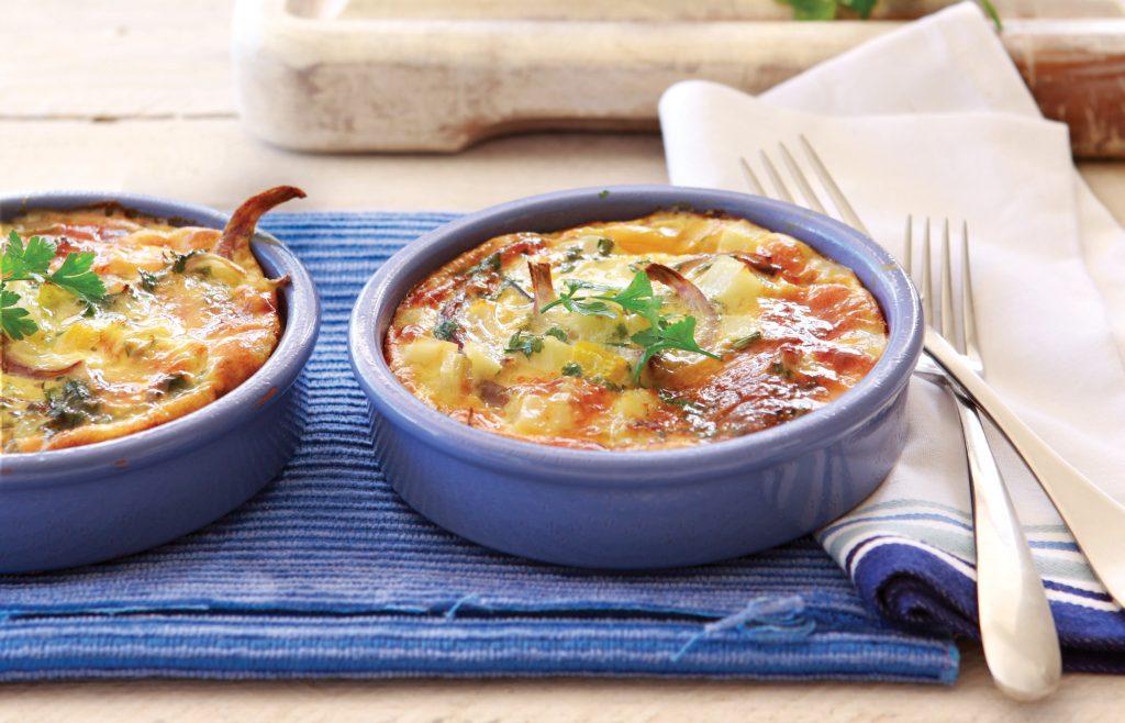Capsicum and potato frittata