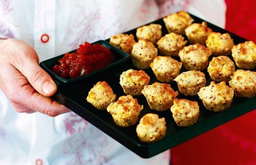 Cheese and mustard mini muffins