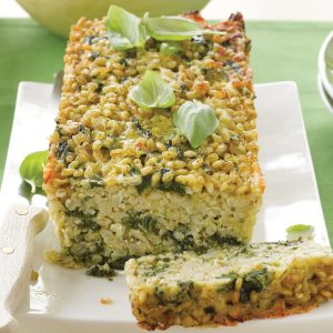 Cheesy pesto and spinach loaf