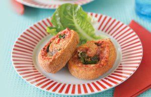 Cheesy pinwheel scones