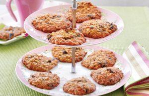 Chewy honey oatmeal cookies