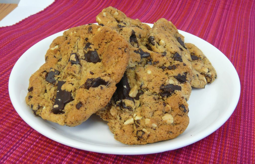 Chewy peanut butter and chocolate cookies