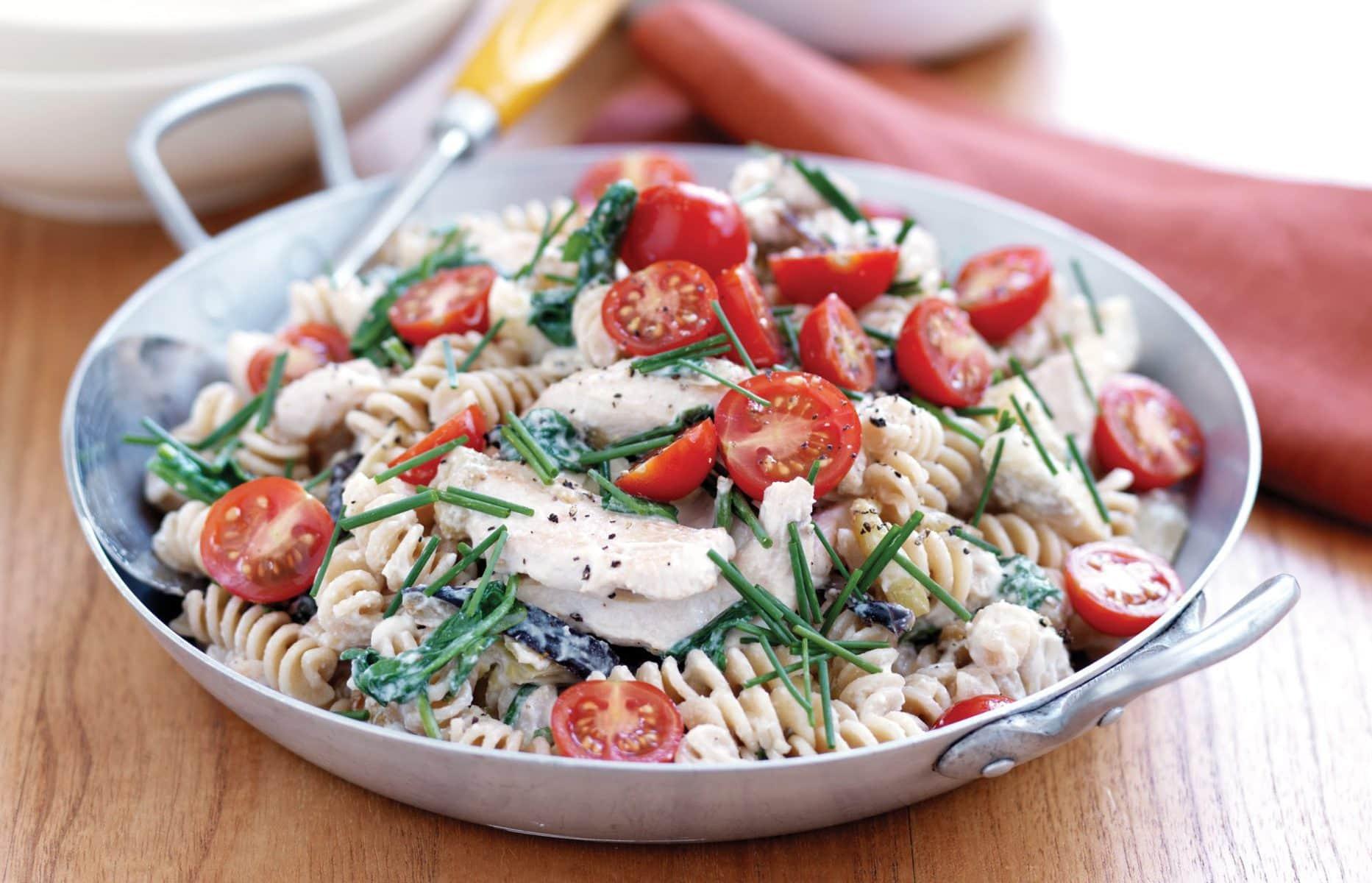 Chicken and artichoke pasta