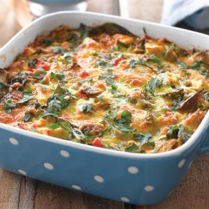 Chicken and corn quiche