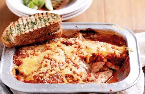 Chicken and eggplant parmigiana