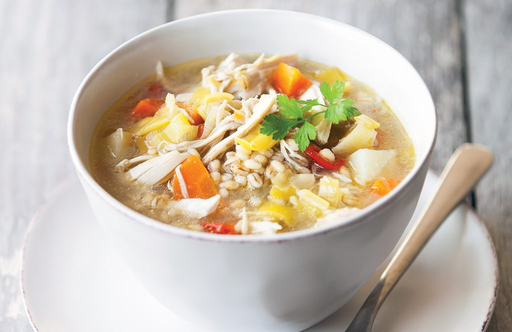 Chicken and leek soup