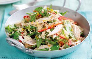 Chicken and orange-ginger quinoa salad