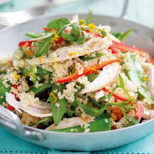 Chicken and orange-ginger quinoa salad