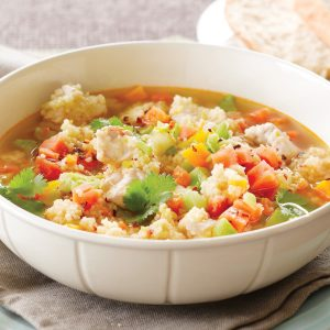 Chicken and vege couscous soup