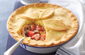 Chicken and vege pan pie