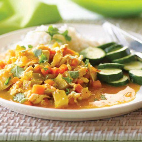 Chicken, mango and pumpkin curry