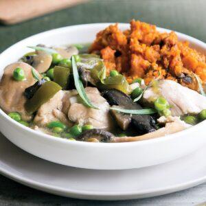 Chicken, mushroom and tarragon casserole
