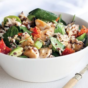 Chicken, rice and quinoa salad