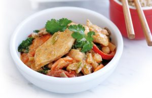 Chicken, vegetable and chickpea curry