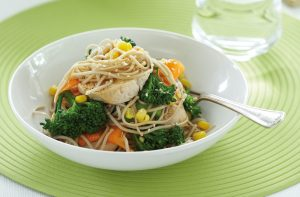 Chicken and soba noodle salad