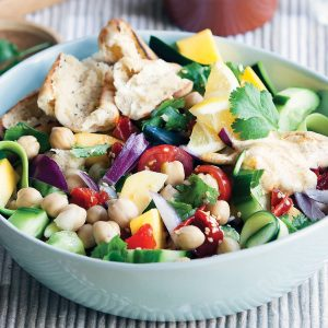 Chickpea and mango salad