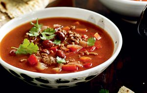 Chilli beef and kidney bean soup