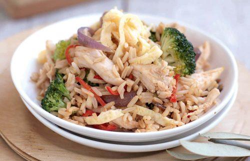 Chilli chicken fried rice