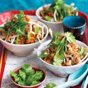 Chinese-style chicken with kumara mash
