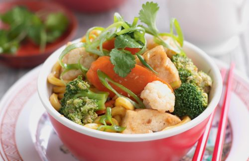 Chinese vegetarian chow mein