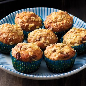Choc chip, banana and oat mini muffins