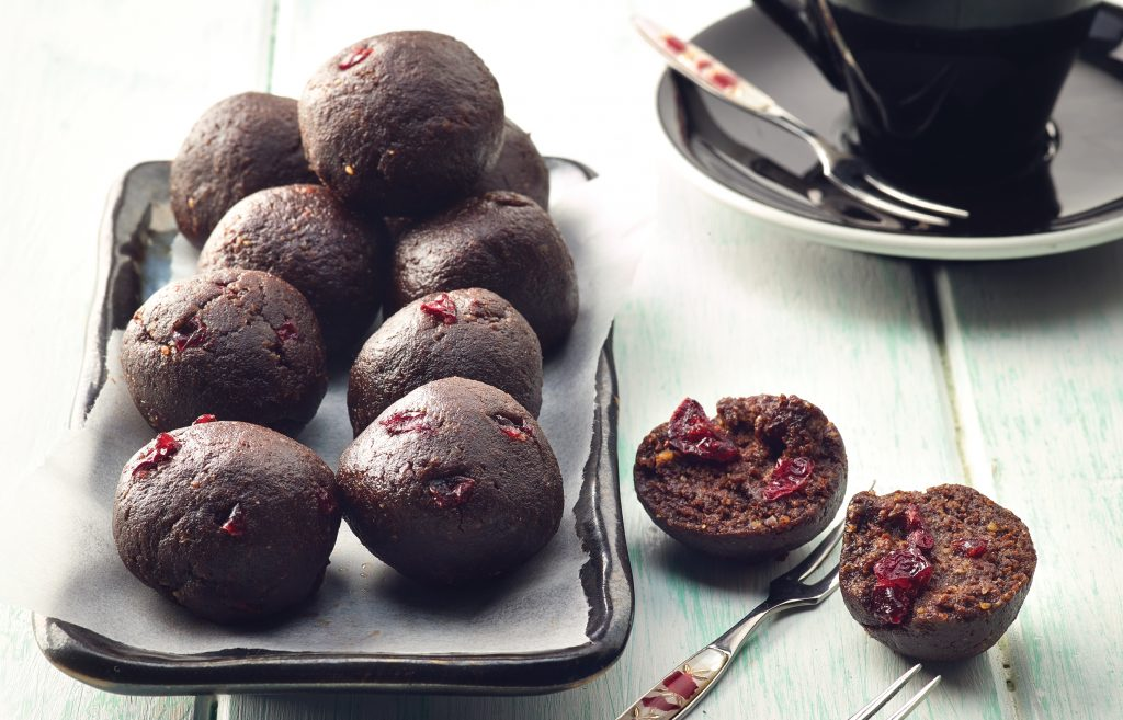Choc cranberry bliss balls