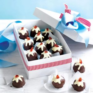 Chocolate Christmas pudding truffles