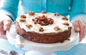 Chocolate, date and walnut cake