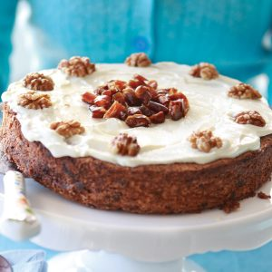 Chocolate, date and walnut cake