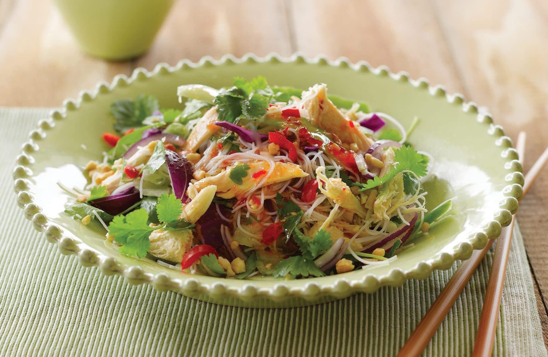 Coriander and chicken vermicelli salad