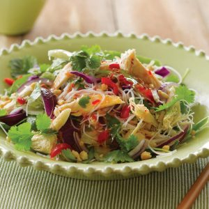 Coriander and chicken vermicelli salad
