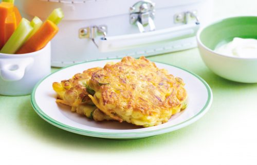 Chickpea and vege fritters